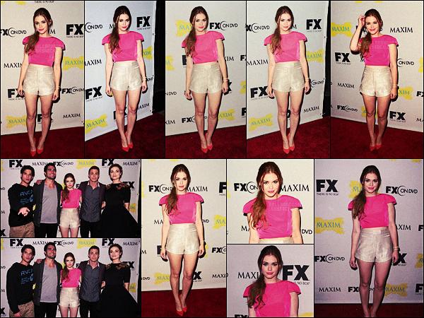 ● Le 13/07/12, Holland Roden s'est rendue à l'événement Maxim, FX et Fox de la C-C à San Diego.