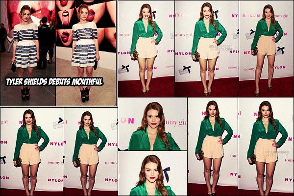 ● Holland Roden était à un événement organisé par le magazine Nylon  dans Hollywood, - 09/05/12.