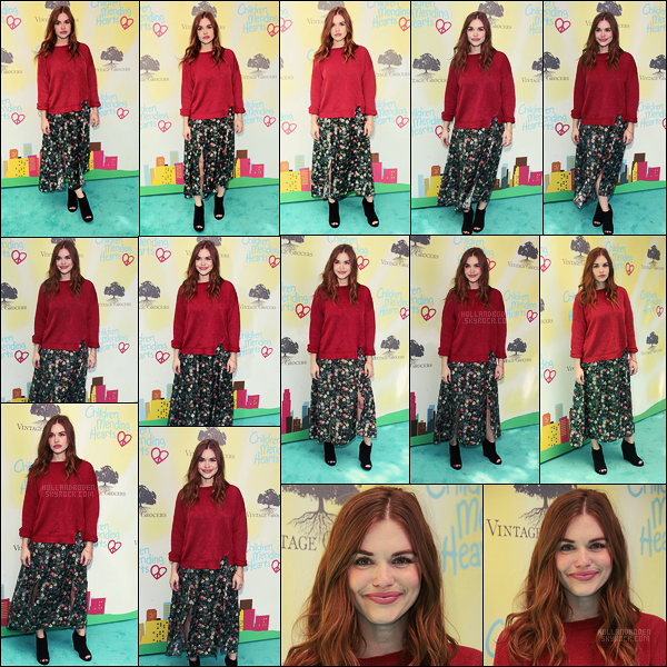 ● 11/06, Holland Roden était à la cérémonie Children Mending Hearts  à Los Angeles.