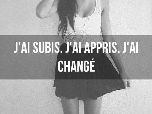 J'ai changer