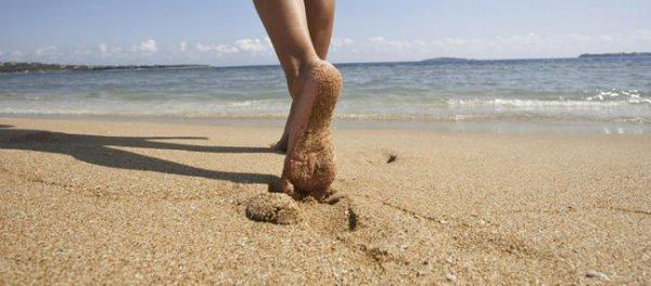 Je marche sur le sable