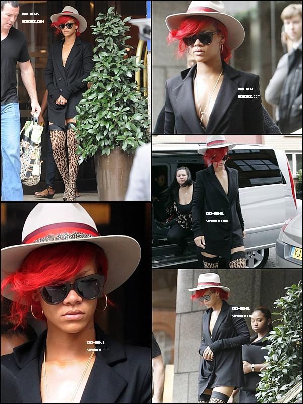 .  02/10 - Rihanna quitte son hôtel et se rend dans un studio photos.Sa Tenue TOP/FLOP?!??dites moi tout  .
