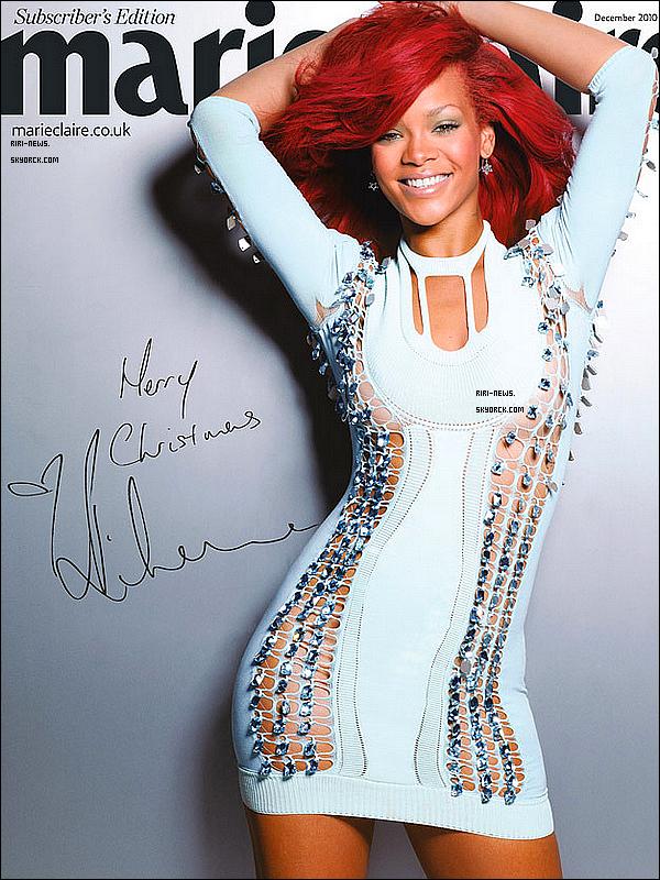 """. Rihanna a fait la couverture du magazine de """"Marie Claire UK""""Juste sublime!Top ou Flop??lacher vous!."""