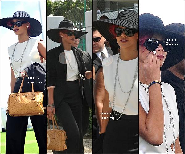 . 03/11/10 Rihanna se rendant au Funerailles du Ministre de la barbadeTop ou FlopRiRi est aujourdhui en barbade.