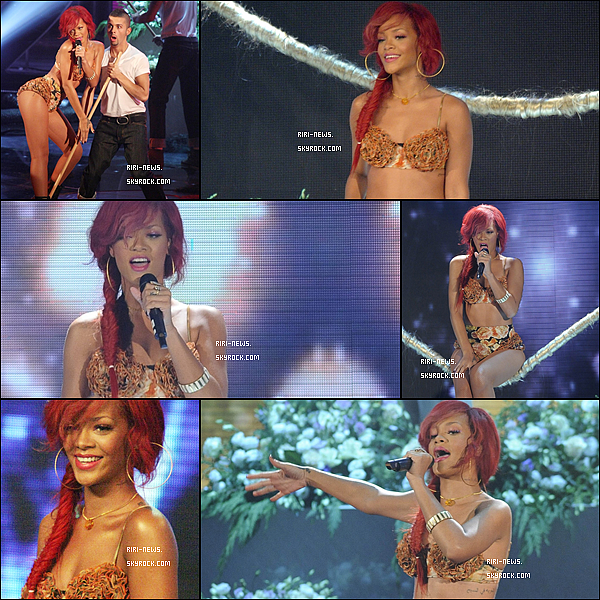 """. 09/11/10 Rihanna a Performer """"Only Girl"""" a X factof Italy (a milan)Top ou FlopElle est belle avec sa nouvelle coupe de cheuveux."""