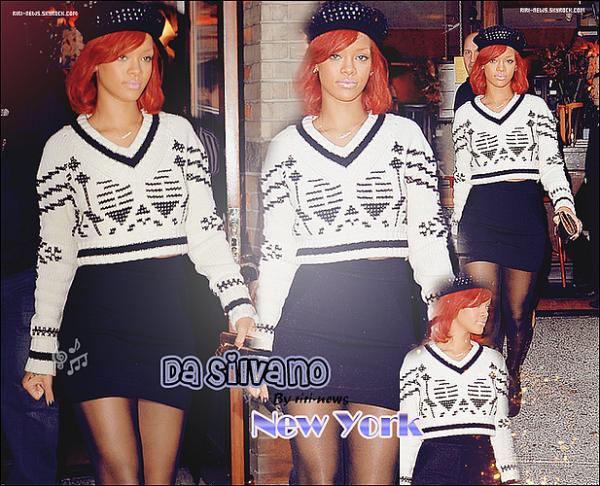 ". 15/11/10 Rihanna a été vue quittant son restaurant favorie ""Da Silvano"" a New YorkTop or FlopLacher vos impression."