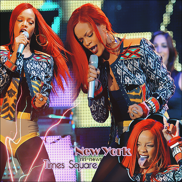 ". 15/11/10 Rihanna a Performer ""What's My Name""au Times Squire de New YorkTop or FlopNOUVELLE COUPE:!!!!."
