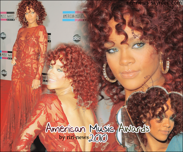 ". 21/11/10 Rihanna Au ""AMA 2010"" et a performé Only girl , What's my name,et Love the way U lie 2elle a gagné dans la Categorie "" Artiste Feminine de L'anné."