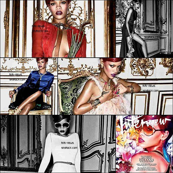 ". 21/11/10 Rihanna a Fait la Couverture du Magazine ""Interview"" + le photoshootTop Or Flop."