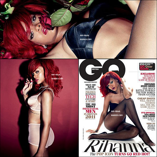 """. 26/11/10 Rihanna a Fait encore LA Couverture du magazine """"GQ"""" Decouvre les Photos Sexy du shootTop Or Flop."""
