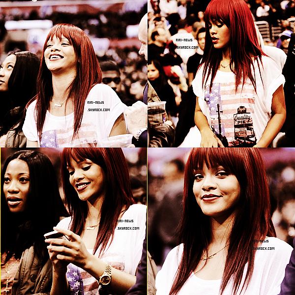 . 12/01 Rihanna été apercue a un match de Basket Ball a Los Angeles . Top ou FlopRihanna confirme qu'elle figurera dans « Vogue » .