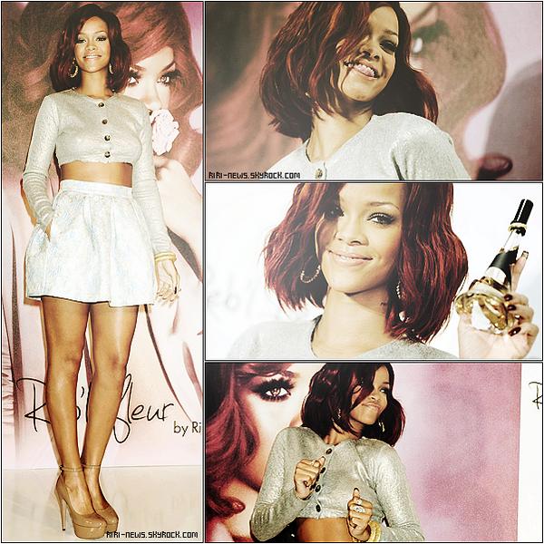. 18/02 Rihanna a participé à un évènement promotionnel pour son parfum « Reb'l Fleur »Demain Rih ferat 23 ans ! Happy birthday  .