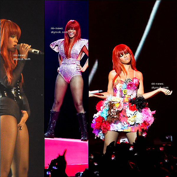 ". Rihanna reprend aujourd'hui ""Last Girl On Earth Tour"" a Brisbane , en Australie  ."