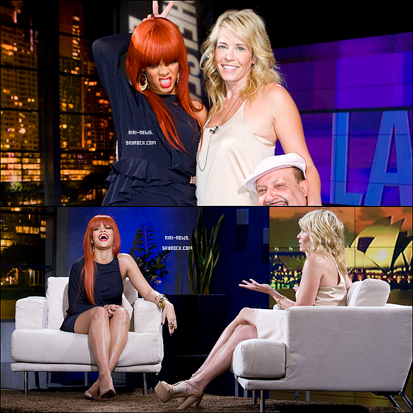 . Rihanna etait au « Chelsea Lately Show »,Top ou flop ? Regardez le Sneek peek de l'interview de rihanna ici .