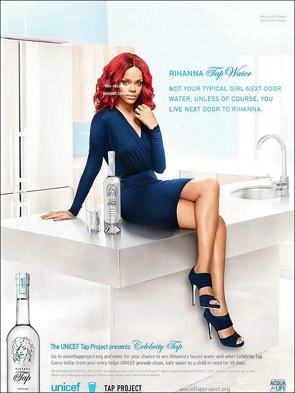 """. Decouvrez Rihanna sur un Spot Publicitaire pour un Projet d'Unicef """" Tap Water""""."""