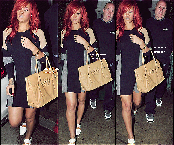 . 19/03/11 Comme à sa grande habitude, Rihanna dinait hier soir au restaurant « Giorgio Baldi », Top ou Flop ?  .