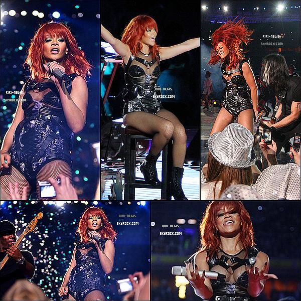 """. 14/05/11 Rihanna hier en concert pour les 75 ans du club """"FC SHAKHTAR"""" en Ukraine, Top ou Flop ?  Nouvelle coupe de cheuveux qui lui va a merveille avec la tenue hyper splendide ."""