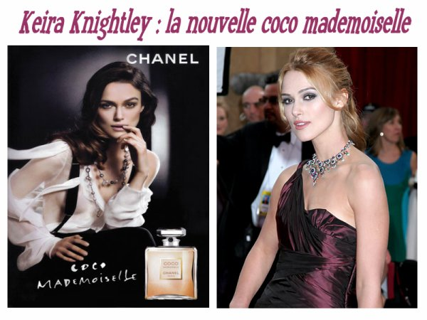 Rubrique & people : Keira Knightley, la nouvelle coco mademoiselle