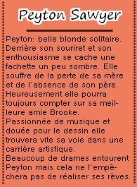 Hilarie Burton est Peyton Sawyer