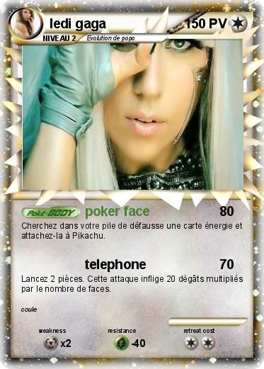 Carte Pokemon Lady gaga !