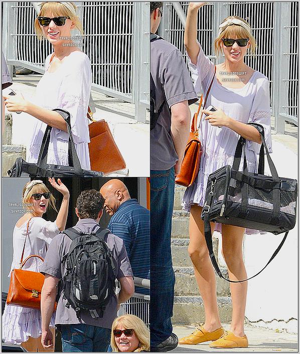 .10.04.13 : Taylor Swift vu maintenant dans Miami avec son chat ! Hahah.Enfin des news !  :)  .