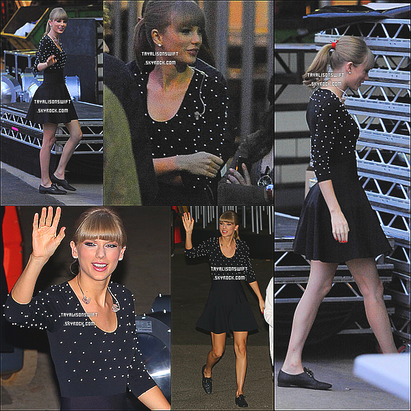 .08.06.13 : Taylor Swift vu arrivant au studio de Britain got Talent dans Londres  le soir . .