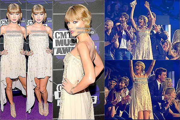 .03.06.13 : Taylor vu au CMT Awards 2013 sur le tapis & en performant une de ses chansons dans Nashville. .
