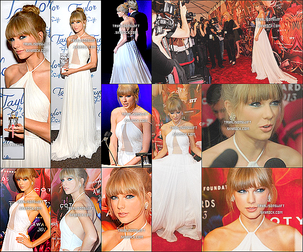 . 12.06.13 : Taylor Swift presente au The Fragance Foundation Awards sur le tapis dans New York. .