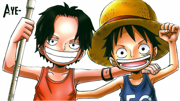 One Piece Chibi Luffy And Ace