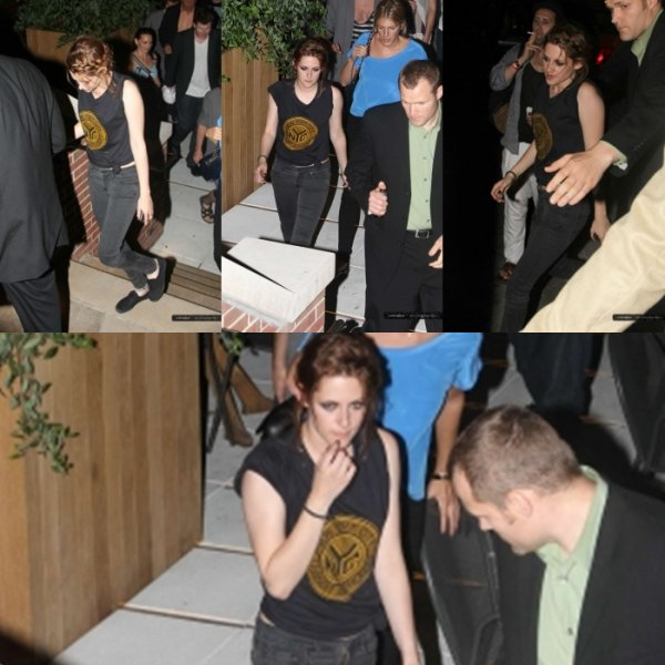 Kristen leaving the 'Eclipse' screening in NY