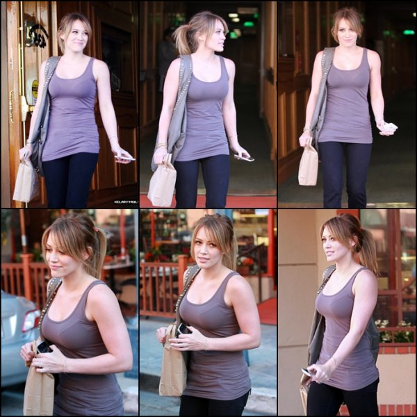 hilary Leaving a medical building Beverly Hills