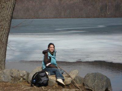 moi au lac du mont st-hilaire