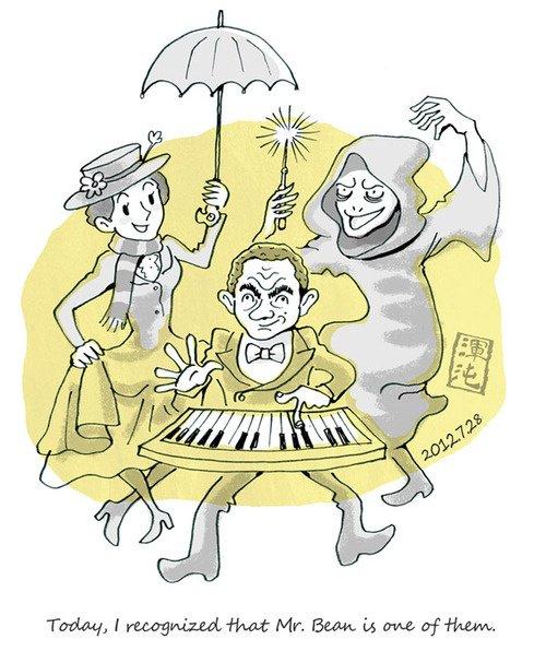 caricature de l'ouverture des JO