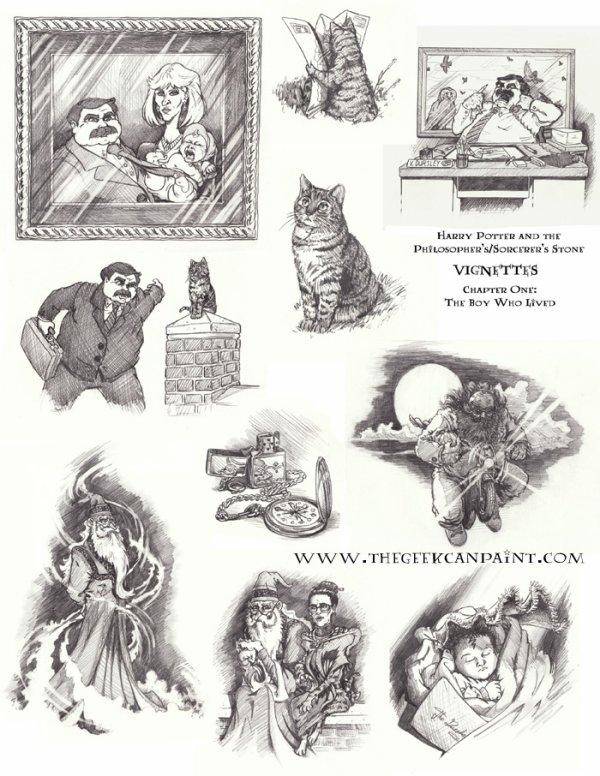 vignettes harry potter  de TheGeekCanPaint