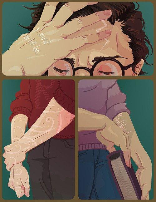 les cicatrices du trio