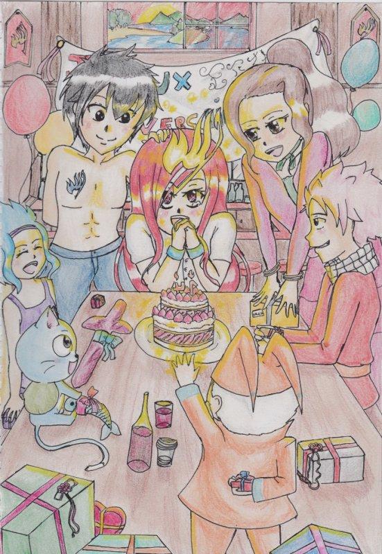 happy birthday Erza