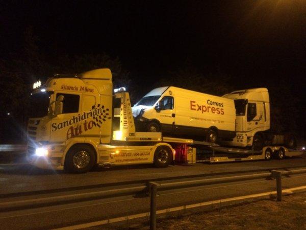 Remolcador de camiones.
