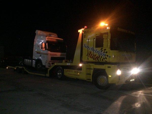 Gruas para camiones y autobuses.