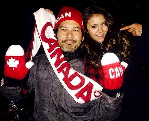 Nina était sur le dernier jour de tournage de son film The Final Girls ce 24 mai 2014.