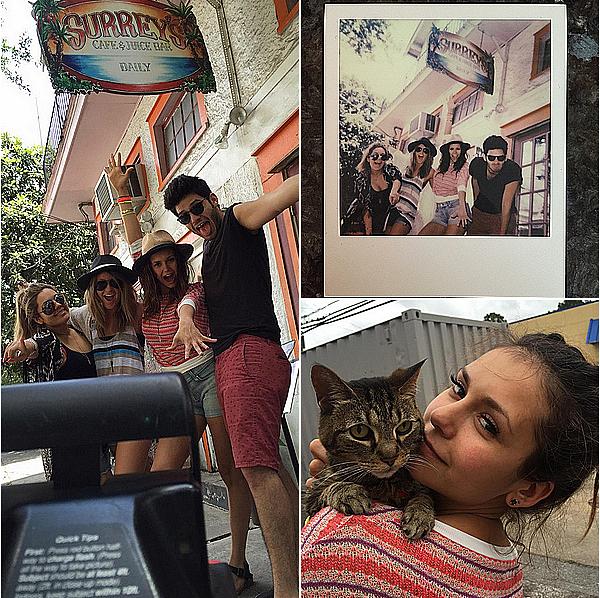 Nina et ses amis ont commencé leur road trip d'Atlanta à Austin du 6 au 10 mai 2015. Ils se sont arrêtés sur le chemin à la Nouvelle-Orléans puis donc à Austin au Texas où ils sont restés un peu plus longtemps. Le road trip n'est pas encore terminé mais Nina a pris une pause d'une journée pour aller à Los Angeles sur le plateau de Conan O'Brien, mais elle retournera ensuite à Austin avec ses amis pour continuer le road trip jusqu'à sa nouvelle maison à Los Angeles.