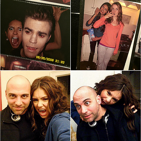 A l'occasion de la diffusion du dernier épisode de TVD de Nina ce 14 mai 2015, elle a posté plusieurs anciennes photos prises avec le cast de TVD depuis le début en 2009.