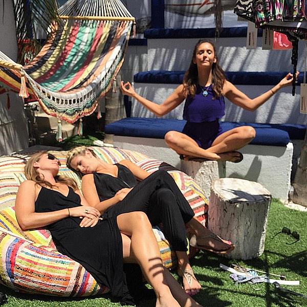 Nina, Lane et Hillary étaient à la boutique Beach House Brand à Los Angeles ce 7 juin 2015.