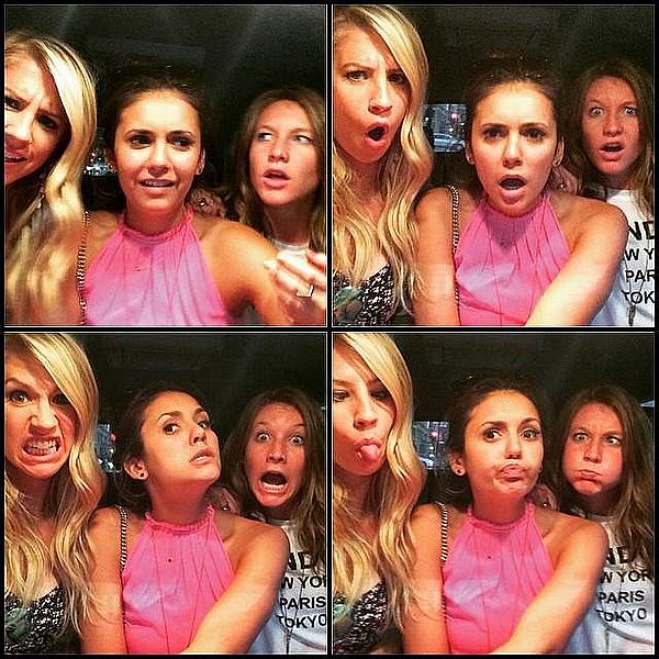 Nina, Austin et ses amies sont allés à la baby shower de Jaime King ce 14 juin 2015.