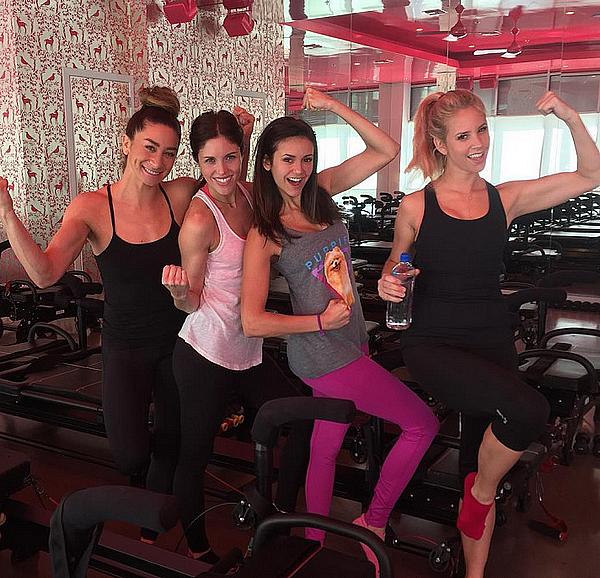 Nina, Mary, Kayla et Hillary étaient à la salle de sport à Los Angeles ce 21 janvier 2016.