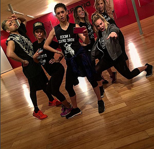 Nina et ses amis étaient au studio de danse Millenium Dance Complex ce 22 janvier 2016.