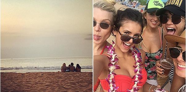 29/01/16 - Nina et plusieurs amies ont été aperçues s'amusant sur une plage de Maui, à Hawaii.  Nina a dû aimer Hawaii vu qu'elle y était déjà y a un mois avec un groupe d'amies différent. J'adore son maillot de bain.