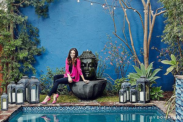 Nina a fait un nouveau photoshoot pour My Domaine dans sa maison à Los Angeles.