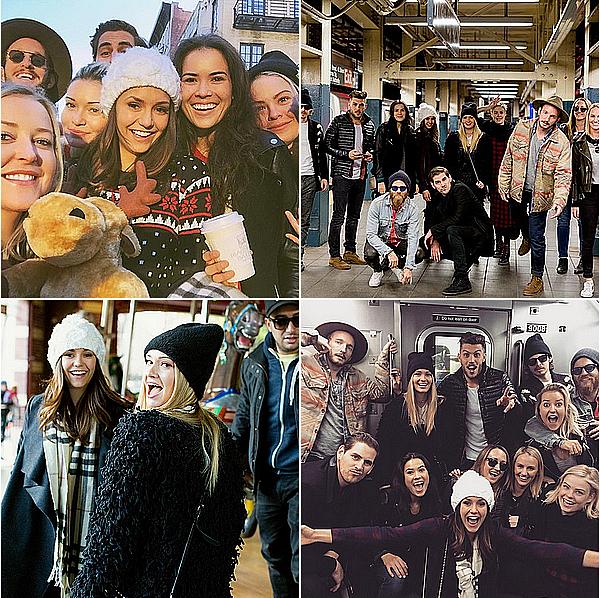 Nina est allée avec plusieurs de ses amis à New York City ces 5 et 6 décembre 2015.