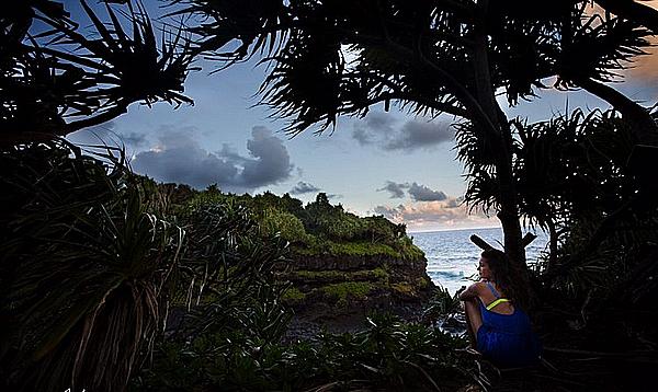 Nina et ses amies ont passé leurs deux derniers jours à Hawaii ces 30 et 31 janvier 2016.