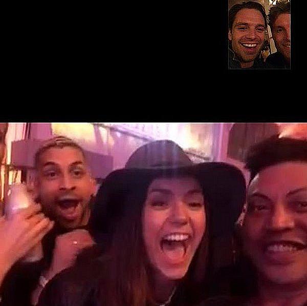 Nina et ses amis étaient à la Playboy Super Bowl Party à San Francisco ce 5 février 2016.